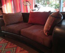 Canapé en cuir - Bois & Chiffons