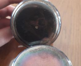 Lot de 2 timballes métal argenté