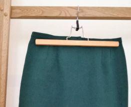 Eulalie- Jupe vintage longueur genoux vert forêt