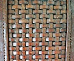 Honorine - Sac cabas vintage en cuir à grandes anses tressés