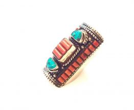 Bague Ethnique Indienne Turquoise