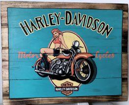 "Tableau décoratif en bois style palette ""Harley"""