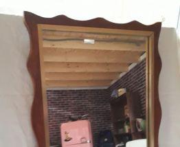 cadre bois miroir vintage art deco