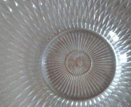 Coupe à fruits en verre vintage