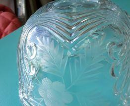 bonboniere  pot   a coton cristal  art deco