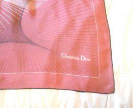 FOULARD CHRISTIAN DIOR MARRON CLAIR 76 CM