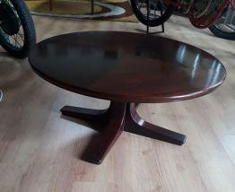 table basse acajou massif 1950