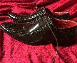 Chaussures italiennes vernies chocolat
