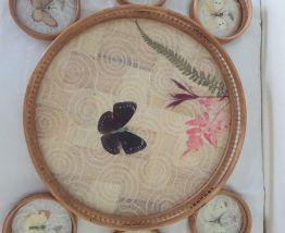 "Plateau bambou ""papillons"""