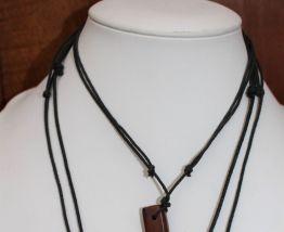 lot colliers perle bois argente vintage