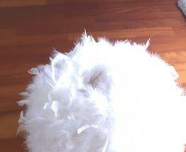 Lustre boule de plumes