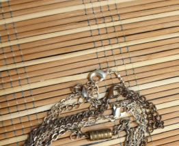 lot colliers chaîne argente fantaisie vintage hippie/ethniqu