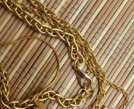 lot colliers chaîne dore fantaisie vintage