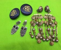 lot Boucles d'oreilles clips style oriental