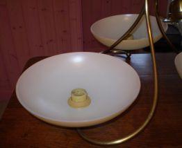 lustre laiton 3 vasques en opaline