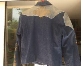 Blouson jean et cuir