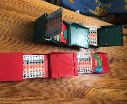 Bridge Partner ensemble de 4 avec cartons d'encher