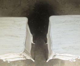 2 chevets chêne effet usé avec 3 tiroirs