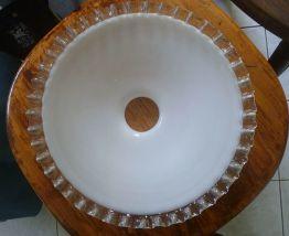 abat jour , suspension  opaline blanche ,vintage