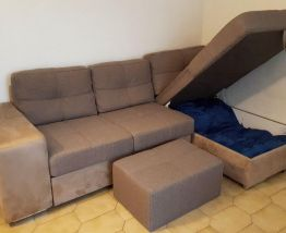Canapé d'angle convertible quasi neuf