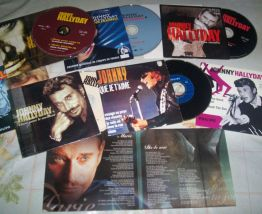 LOT DE 9 SINGLES ET MAXI SINGLES20 CD JOHNNY HALLYDAY