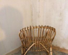 Roching chair en rotin