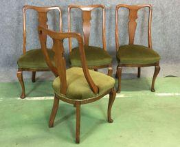 Suite de 4 chaises anglaises du XIXème en acajou