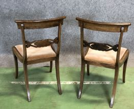 Paire de chaises Victoriennes XIXème