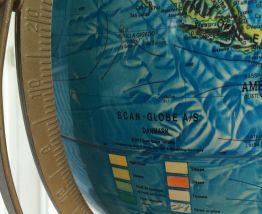 Globe terrestre Scan Globe Danemark lumineux