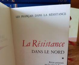 8 livres reliés sur la résistance