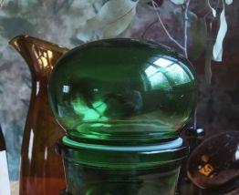 Joli pot apothicaire vert des années 70