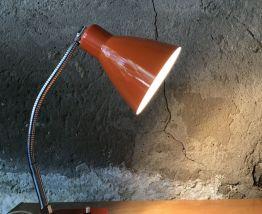 Lampe de bureau orange vintage