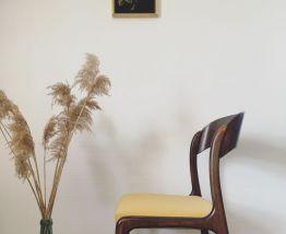 Paire de chaises traîneau Baumann