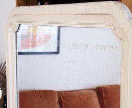 Très grand miroir vintage années 60 patiné 1M60