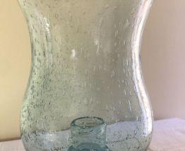 Photophore en verre soufflé bullé Biot