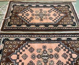 Paire de tapis fait main de Tunisie en laine