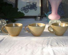 3 Tasses à Thé ou Bolées GRES VILLAGE