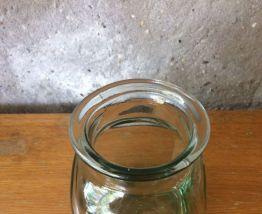 Petit pot à condiments en verre - vintage