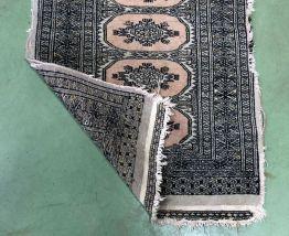 Tapis d'occasion fait main laine et soie