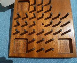 jeu  solitaire  en  bois