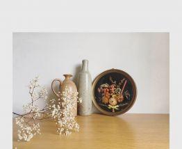 Cadre bombé fleurs séchées