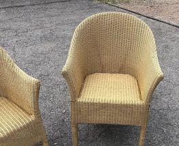 Paire de fauteuils Loom des années 1980