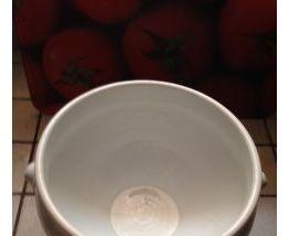 Soupière en porcelaine blanche