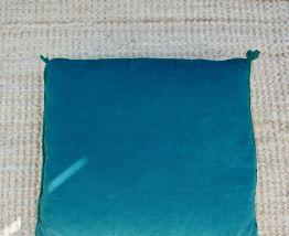 Coussin vert vintage crochet