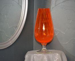 Grand Vase cristal orange