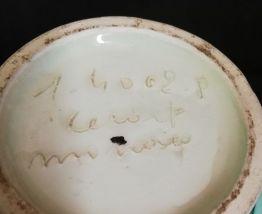 Vase boule en faïence de Monaco Cerart signé et numéroté