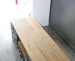 Meuble TV style industriel métal et bois massif