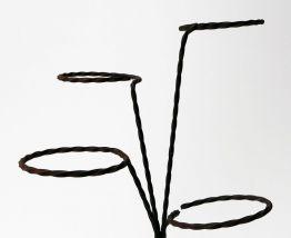 Porte-plante en fer forgé 4 pots en dégradé