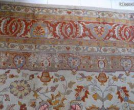 Grand Tapis ancien Indo Persan fait main 3.80 x 3m