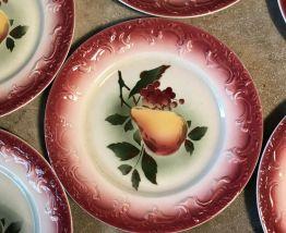 12 petites assiettes DEVONNE FF décors Poire
